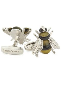 Simon Carter silver tone cufflinks