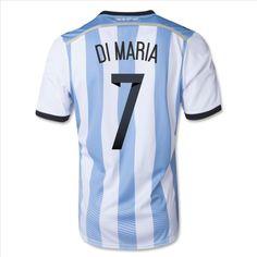 c0e63ed46 2014 Argentina Soccer Team KUN AGUERO Home Jersey