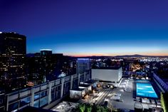Breathtaking views of downtown LA from the rooftop pool at The Ritz-Carlton, Los Angeles.