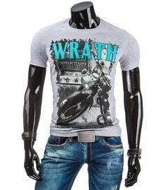Šedé pánske tričko s potlačou Wrath - Kokain