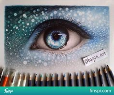 and how? *. * #drawing #art #blue #eye #photo