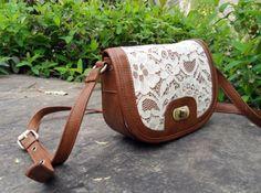 Lace side purse