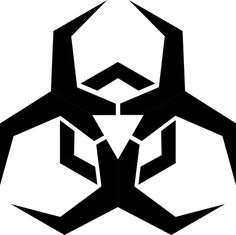 Malware Hazard Symbol - Red by Symbol to label potential sources of malware. Based on the standard biohazard symbol. This variation red with stroke edges, on Celtic Love Symbols, Cool Tattoos, Tatoos, Nerdy Tattoos, Hazard Symbol, Monster Stickers, Trojan Horse, 3d Prints, Geometric Tattoos