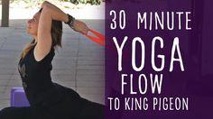 37 Minute Yoga Class Vinyasa Flow to King Pigeon (Eka Pada Rajakapotasana). You might also enjoy these intermediate yoga classes: https://www.youtube.com/pla...