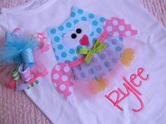 EXCLUSIVE Ballerina Owl Applique T Shirt Set for by BubbleBabys, $29.95