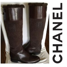SOLD Chanel genuine fur lining boots. Not available in the store anymore....in like new condition. Size 39.5 but fits like 8.5-9 CHANEL Shoes Winter & Rain Boots
