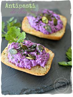 antipasti de chou rouge Purple Food, Salty Foods, No Cook Meals, Avocado Toast, Entrees, Tapas, Healthy Snacks, Catering, Brunch