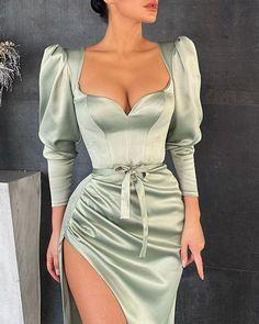 Mode Outfits, Dress Outfits, Fashion Dresses, Classy Dress, Classy Outfits, Casual Outfits, Pretty Dresses, Beautiful Dresses, Elegant Dresses For Women