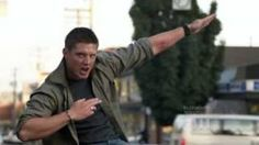 Supernatural Dean Singing Eye Of The Tiger FULL High Quality, via YouTube.
