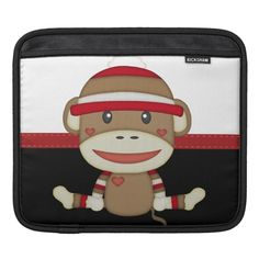 Shop Retro Sock Monkey Sleeve For iPads created by My_Favorite_Things. Personalize it with photos & text or purchase as is! Personalized Gifts For Kids, Customized Gifts, Custom Gifts, Retro Gifts, Ipad Sleeve, Cute Socks, Ipad Air 2, Cute Designs, Ipads