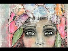 Drawing & Painting Mixed Media Portrait