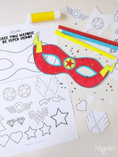 Arts And Crafts Halloween Ideas Avengers Birthday, Superhero Birthday Party, Birthday Crafts, Super Hero Day, Super Hero Masks, Diy For Kids, Crafts For Kids, Superhero Classroom, Activities For Kids