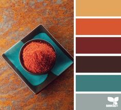 terracotta turquoise color scheme