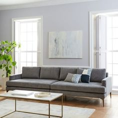 Andes Sofa grey | Scandinavian Design Interior Living | #scandinavian #interior