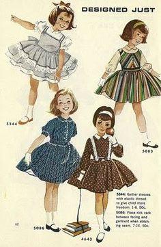 Millie Motts: helen lee designs Vintage Girls Dresses, Vintage Dress Patterns, Little Girl Dresses, Vintage Outfits, Vintage Fashion, Indie Fashion, Streetwear Fashion, Retro Fashion, Childrens Sewing Patterns