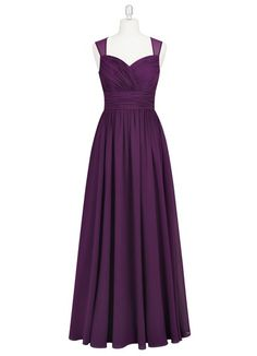 AZAZIE DARA. Dara is the perfect floor-length dress with sheer straps and a keyhole back with a jewel button closure. #Bridesmaid…