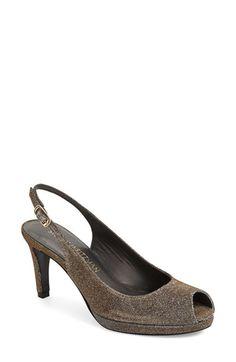 STUART WEITZMAN 'Slinky' Peep Toe Pump (Women). #stuartweitzman #shoes #pumps