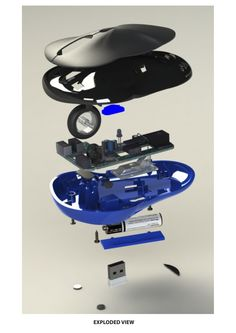 CAD Mouse exploded view
