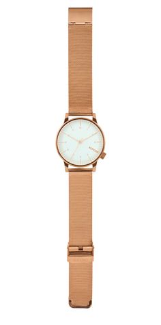 New and popular Komono watches with a metal mesh wristband for men and women. The Royale watches are your own crown jewel.
