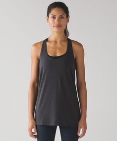 This lightweight tank was  designed to layer over your  favourite bra to take you to  and through your practice.