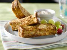 Bâtonnets de pain doré farcis aux pêches