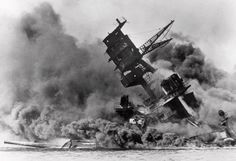 Pearl harbour 411207 USS Arizona toppling over the se