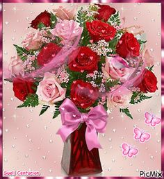 Mensagem para Aniversário Flores Beautiful Flowers Wallpapers, Beautiful Roses, Picture Cards, Flower Wallpaper, Birthday Greetings, Floral Wreath, Bouquet, Valentines, Wreaths