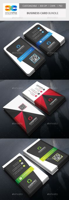 Business Card Bundle by -axnorpix Features : ? Round /square corner possible. ? Easy to edit. ? Landscape Design.? Optimized for printing / 300 dpi. ? CMYK color mo