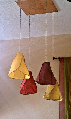 A round up of paper lighting including this cool Camellia Chandelier from Khalima Lights.