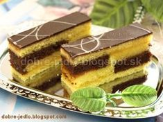 Ruské rezy - recepty Slovak Recipes, Czech Recipes, Ethnic Recipes, Desert Recipes, Nutella, Baked Goods, Tiramisu, Cake Recipes, Food And Drink