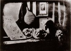 Louis Daguerre] L'Atelier de l'artiste, an 1837 daguerreotype by Daguerre, claimed to be the first to complete the full process. Louis Daguerre, History Of Photography, Classic Photography, Photography Tips, Camera Obscura, First Photograph, Historical Pictures, French Artists, Old Photos