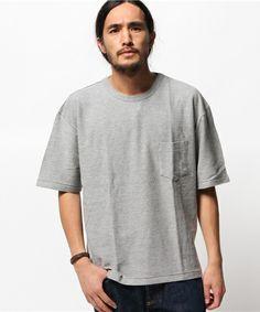Ciaopanic (Mens)(チャオパニック)の【Ciaopanic】 同色JQ半袖Tee(Tシャツ/カットソー) グレー