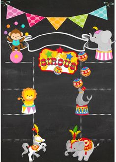 Carnival Party Decorations, Carnival Birthday Parties, Carnival Themes, Circus Birthday, Circus Party, Printable Invitation Templates, Printable Designs, Circo Do Mickey, Boarders And Frames