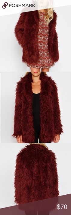 Mongolian Faux Fur Jacket Faux fur jacket with pockets Willow & Clay Jackets & Coats