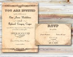 Wedding Invitations Printable  Rustic Country St Louise by ABandIG, $22.00