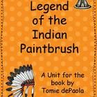 The  Legend of the Indian Paintbrush is a great read in November.  It is the story of a small Native American boy who contributes to his tribe by bringing beauty to his People.    This unit contains: 1. Vocabulary cards 2.  Reading Response-Story Map 3.