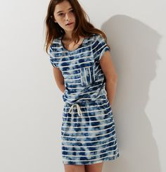 Lou & Grey Striped Bluesky Dress | Loft