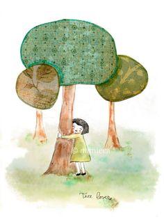 Amante de arboles, Arte, Ilustración