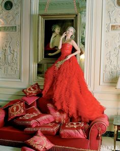 kate moss like marie antoinette; vogue