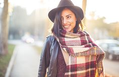 Woman in Layered Fall Outfit