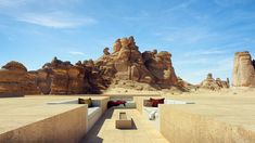 "Wendell Burnette Architects Designs ""Mirage"" Hotel for Saudi Arabia's 1st UNESCO Site,Courtesy of Wendell Burnette Architects"