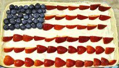 4th of July Dessert: Flag Fruit Pizza