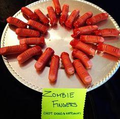 Zombie themed food Halloween Recipe Menu Plan Juicy Flesh idea