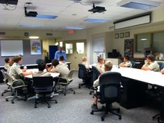 Boy scouts tour the EOC.  If you have a boy/girl scout troop that would like to visit the Delaware County Emergency Management Agency contact us to schedule a date or for more information.