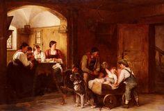 Hugo Engl, Family Scene (Austria)
