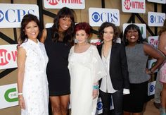 Julie, Aisha, Sharon, Sara & Sheryl hit the Summer TCA red carpet fro CBS!