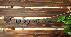 """Pennant Hearts """"Love"""" in Steel by GowenStudios on Etsy"""