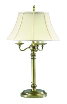 One Light Antique Brass Table Lamp : 459N | Dulles Electric Supply Corp.