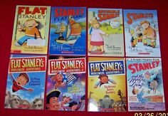 8 Flat Stanley Chapter Books Jeff Brown US Capital Commotion Magic Lamp 2nd Gr. #Scholastic
