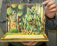 Red Riding Hood | Flickr - Photo Sharing! Pop Up Karten, Children's Book Illustration, Food Illustrations, Psychedelic Drawings, Paper Pop, Wonder Book, Principles Of Art, Up Book, Red Art
